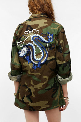 Urban Outfitters Urban Renewal Embroidered Army Jacket