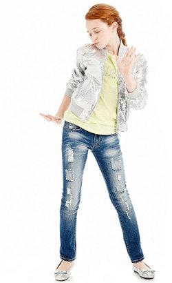GUESS Pants, Girls Distressed Rhinestone Jeans