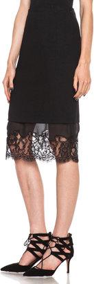 Altuzarra Kepi Viscose-Blend Skirt in Black