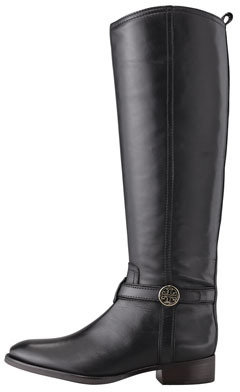 Tory Burch Bristol Leather Riding Boot, Black