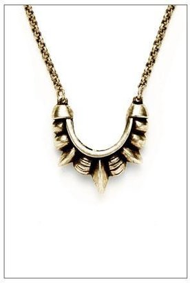 Pamela Love Mini Tribal Spike Necklace in Antique Bronze