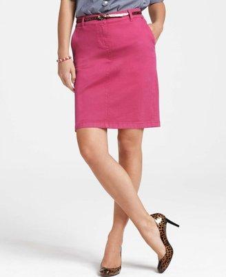 Ann Taylor Denim Mini Skirt