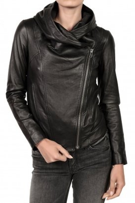 HELMUT Hooded Leather Jacket