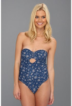 Obey Batik Floral One Piece (Navy) - Apparel