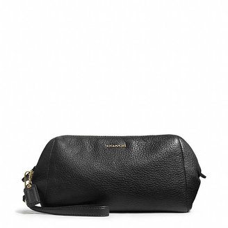 Coach Madison Zip Top Large Wristlet In Leather