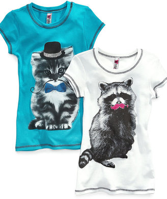 Beautees Kids T-Shirts, Girls Animal Graphic Tees