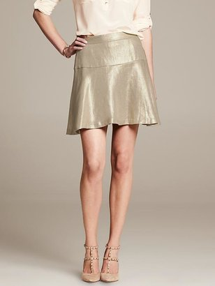 Banana Republic Heritage Metallic Fit-and-Flare Skirt