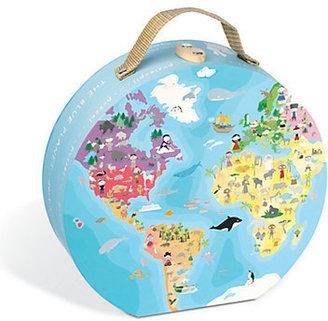"Janod Double-Sided ""Our Blue Planet"" 208-Piece Puzzle & Suitcase"