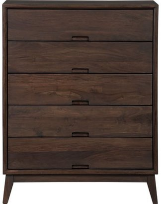 Crate & Barrel Steppe Five-Drawer Chest