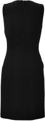 Michael Kors Wool Crepe/Leather Dress