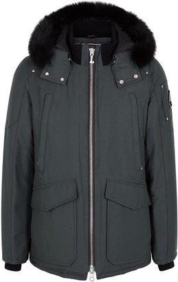 Moose Knuckles Pearson Grey Cotton-blend Coat