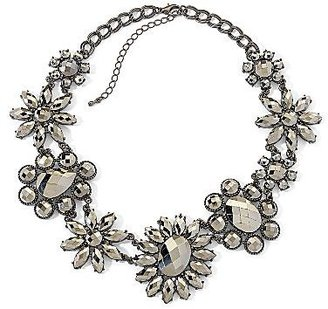 JCPenney Mixit® Necklace, Hematite Flower Faceted