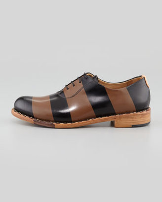 Angela The Office of Scott Mr. Smith Striped Oxford, Black/Brown