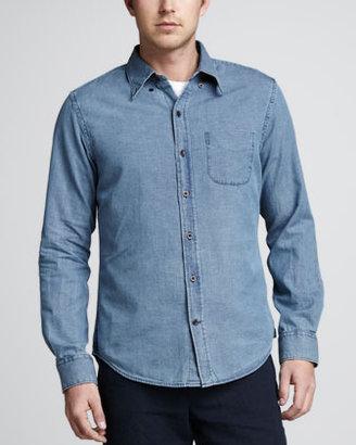 Vince Button-Down Chambray Shirt