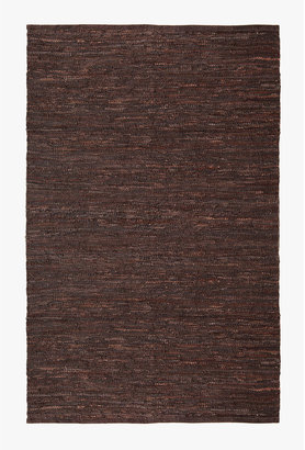 Horchow Woven Leather Rug