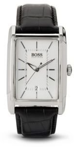 Hugo Boss 1512620 Black Croc Embossed Leather Strap 3-Hand Quartz Classic Watch One Size Assorted-Pre-Pack