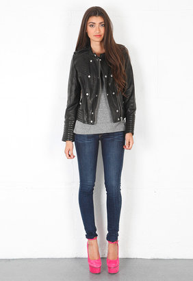 IRO Rojan Leather Jacket in Black