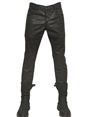 Rick Owens 18.5cm Detroit Stretch Waxed Denim Jeans