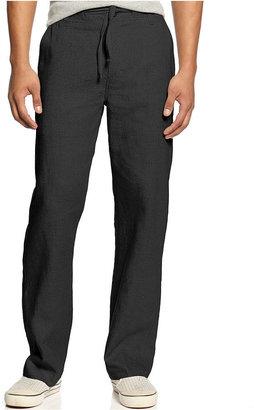 Sean John Pants Big and Tall, Drawstring Linen Pants
