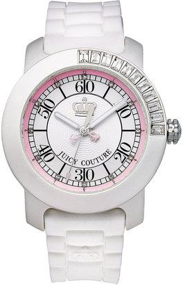 Juicy Couture Watch, Women's BFF White Silicone Strap 1900751
