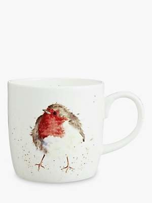 Royal Worcester Wrendale Robin Mug, 310ml