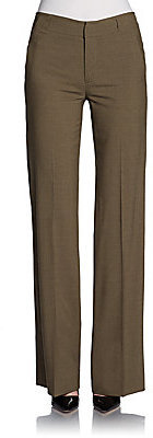 Vince High-Waisted Stretch Wool Pants