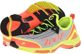 Zoot Sports Ultra Tempo 5.0 (Silver/Hot Coral/Safety Yellow) - Footwear