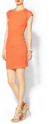 Cut25 Cut 25 Diamond Textured Stripe Knit Dress