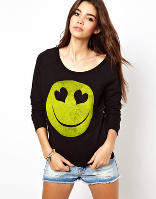 Only Smiley Face Sweat Top