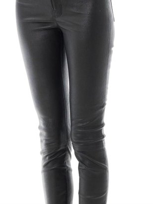 J Brand Anja mid-rise leather trousers
