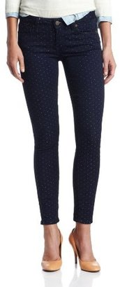 Paige Women's Verdugo Ankle Jean In Pin-Dot Print