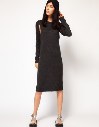Cheap Monday Knitted Dress With Cut Outs