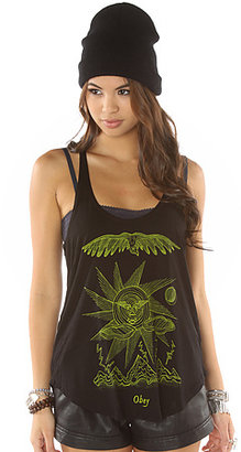 Obey The Storm on the Horizon Melody Tank in Black