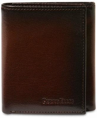 Perry Ellis Portfolio Men Leather Michigan Slim Ombre Trifold Wallet