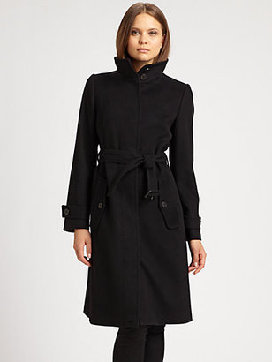 Burberry Wool/Cashmere Belted Coat