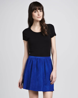 Patterson J. Kincaid Ryley Pleated Suede Skirt