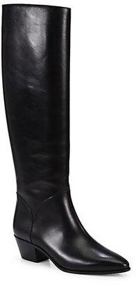 Saint Laurent Rock Leather Knee-High Boots