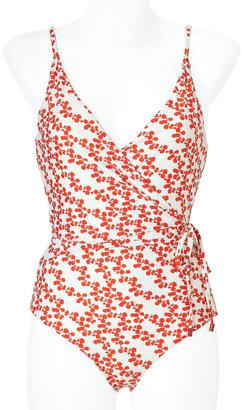 Diane von Furstenberg Mini Halo Buds Red Chike Swimsuit