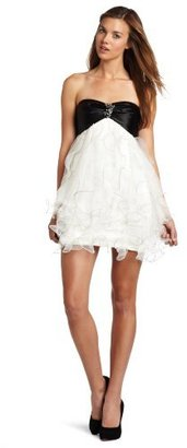 Teeze Me Juniors Strapless Chiffon Dress