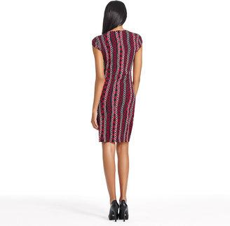 Jones New York Cap Sleeve Wrap Dress