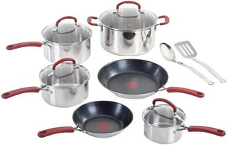 T-Fal Premium 12-Piece Cookware Set in Stainless Steel