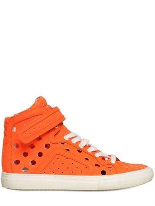 Pierre Hardy 20mm Gum & Calfskin High Top Sneakers