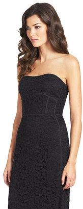 Diane von Furstenberg Bailey Lace Strapless Dress