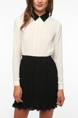 Urban Outfitters Pins and Needles Chiffon Typist Dress