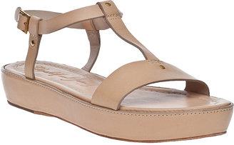 Elizabeth and James Cree Platform Sandal Natural Leather