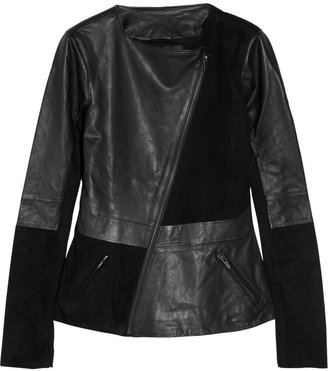 Veda Cassius leather and suede jacket