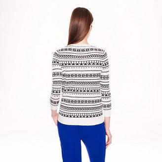 J.Crew Merino wool Tippi sweater in geometric stripe