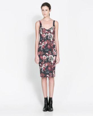 Zara Printed Tube Dress