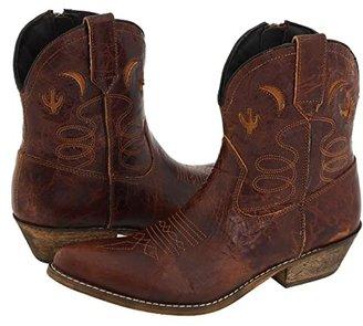 Dingo Adobe Rose (Light Brown Distresssed) Cowboy Boots