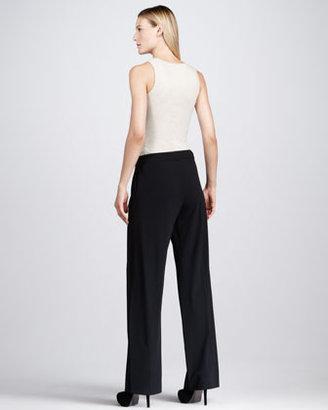 Donna Karan Stretch Wide-Leg Trousers